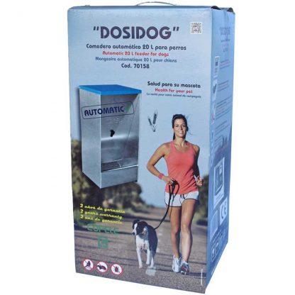 Caja Comedero automático para dosificación de pienso para perros