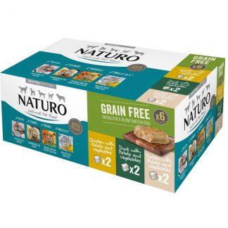Naturo Grain Free Trays 400g Variety 6 Pack (400g x 6)