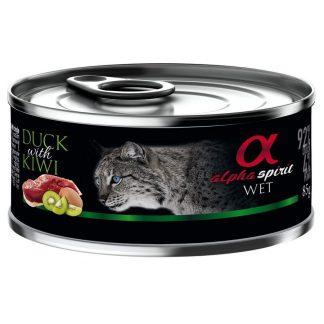 Alpha Spirit - Alimento humedo para gatos – pato kiwi